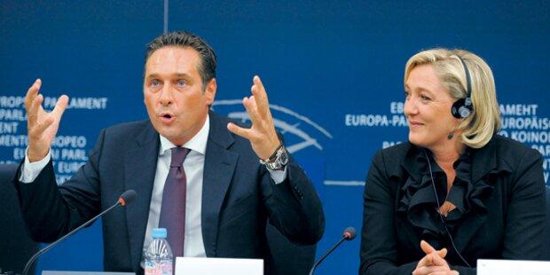 Strache und Le Pen weiter ohne Fraktion