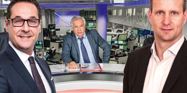 TV-Duell der Extreme: Strolz gegen Strache