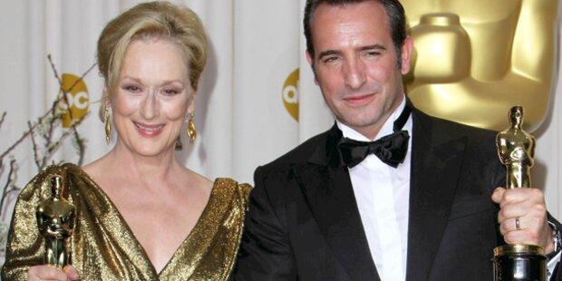 Streep & Dujardin verteilen Oscars