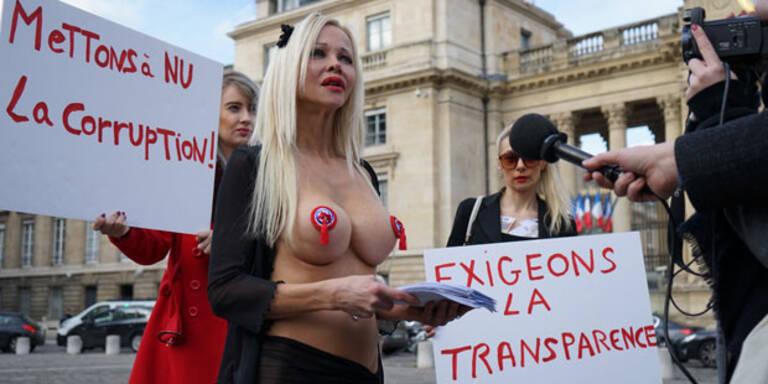 Stripperin sorgt für Eklat bei Frankreich-Wahl