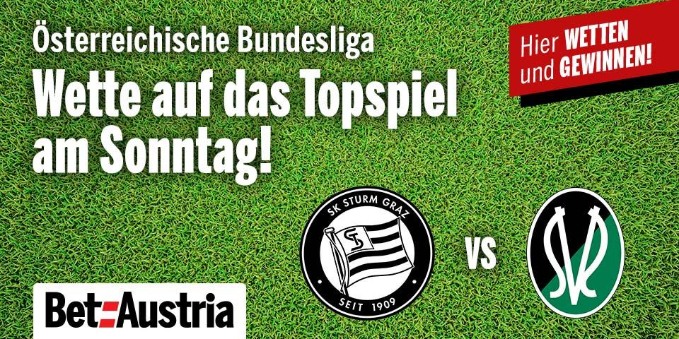 Marketingteaser Österreichische Bundesliga Sturm Graz vs. SV Ried