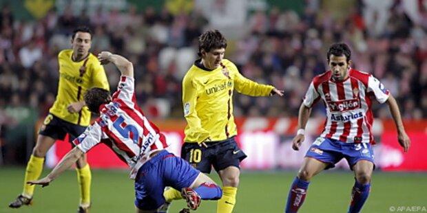 Barca nach 1:0 in Gijon weiter fünf Punkte vorn