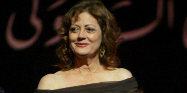 Susan Sarandon kifft vor Preisverleihungen