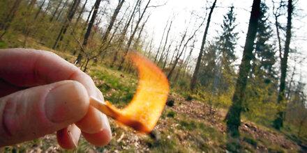 Feuer machen und Rauchen im Wald auch im Flachgau verboten