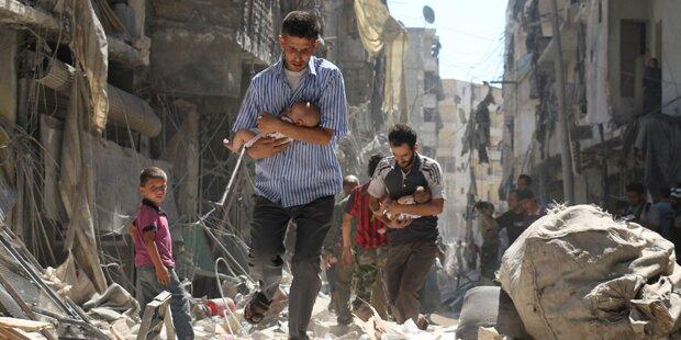 Wieder heftige Luftangriffe auf Aleppo