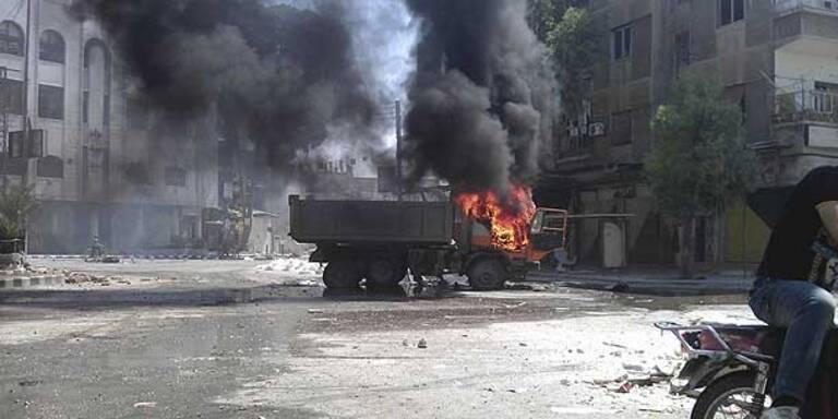 Syrische Rebellen planen Gegenoffensive