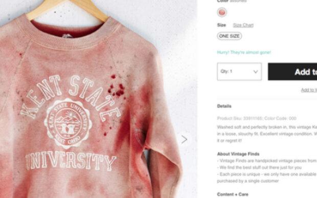 Urban Outfitters provoziert mit Blut-Sweatshirt