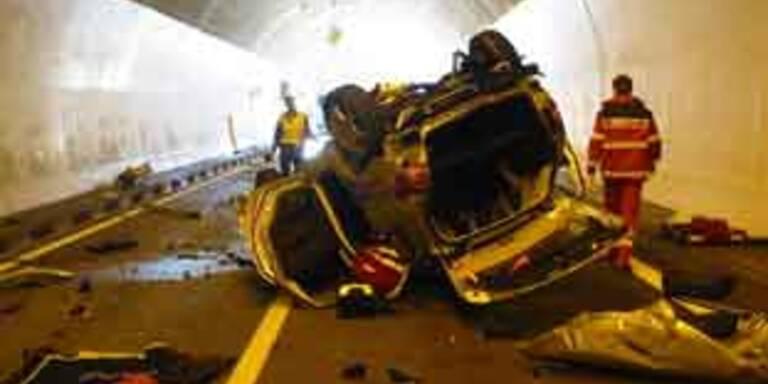 Unfreiwilliger Stunt in Tunnel