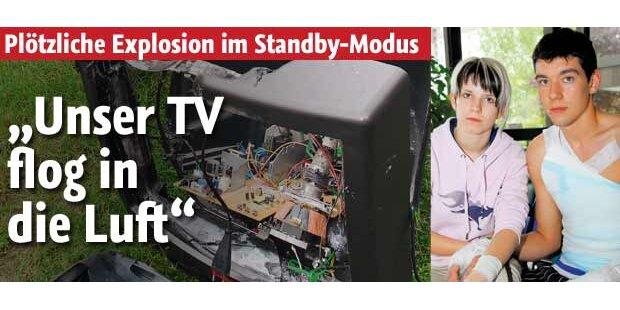 Fernseher flog plötzlich in die Luft