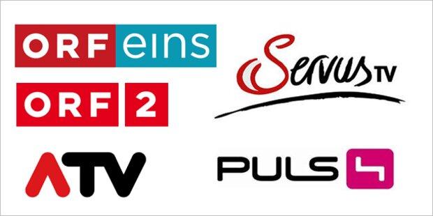 Heimische TV-Sender halten Quote