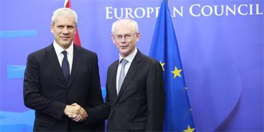 Serbien Präsident Tadic EU EU-Ratspräsident Van Rompuy