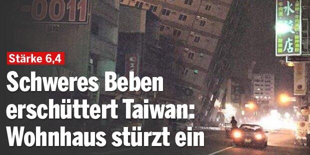 Schweres Erdbeben in Taiwan