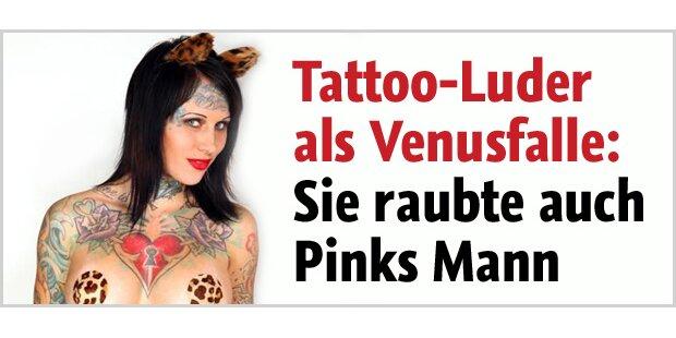 Tattoo-Luder schlief mit Pinks Mann!
