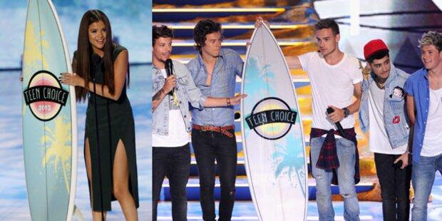 Selena Gomez und One Direction on Top
