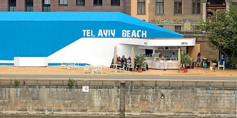 Tel Aviv Beach im Sommer 2009