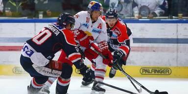 Eishockey Tero Koskiranta & Ivan Puzic (KHL) vs. Ryan Duncan (RBS)