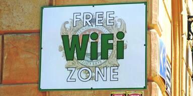Free WiFi Zone Schild