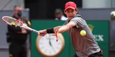 Dominic Thiem beim ATP-Turnier in Rom