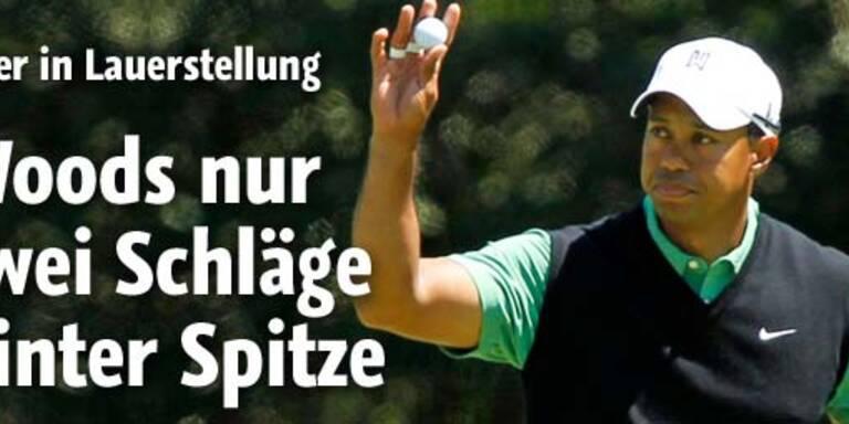 Golf-Masters: Woods wahrt Titelchancen