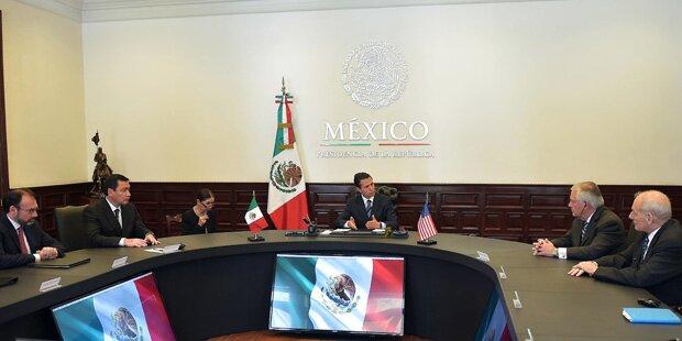 US-Außenminister glättet in Mexiko die Wogen