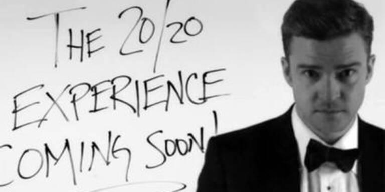 """Comeback mit Fliege: Sieben Jahre lang hat Popsänger Justin Timberlake (32) kein Album mehr veröffentlicht - da musste es für die Rückkehr ans Mikrofon schon etwas ganz besonders Schickes sein. In schwarzem Anzug, weißem Hemd und schwarzer Fliege blickt Timberlake durch eine Art Fernrohr von seiner neuen Platte """"The 20/20 Experience"""" herunter. Es ist die nächste Stufe auf der Karriereleiter des Verwandlungskünstlers: Erst vor allem bei Teenies beliebter Star der Boygroup 'NSync, dann von Kritikern gefeierter Solo-Sänger mit einem spaßigen und tanzbaren Debüt-Album, schließlich auch Schauspieler - und jetzt eben gereifter Musiker im Anzug. AM 15. März erscheint die Platte im Handel."""