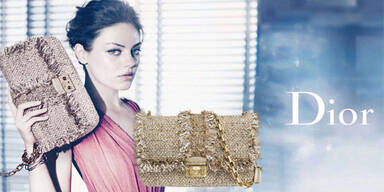 Mila Kunis wirbt für Dior-Handtaschen