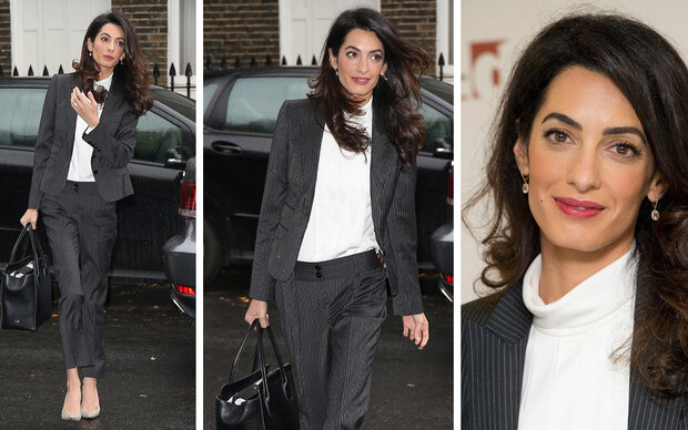 So geht Amal Clooneys Business Look