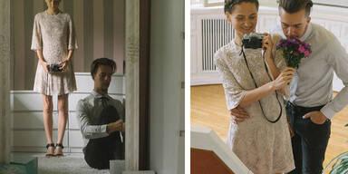 Braut knipst eigene Hochzeitsfotos