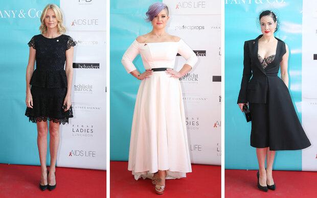 Charlize, Kelly und Dita glamourös in Wien