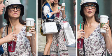 Demi Moore in New York