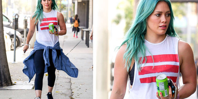 Hilary Duff mit Meerjungfrauen-Frisur