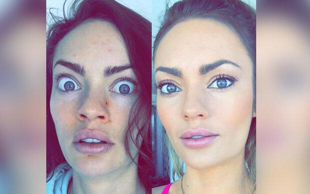 Fitnessmodel Emily Skye zeigt ihr wahres Gesicht
