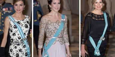 Königin Maxima, Königin Letizia und Kronprinzessin Mary stehen sich in Sachen Style nichts nach.