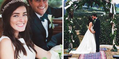 Romantische Hochzeit auf der Weihnachtsbaumfarm