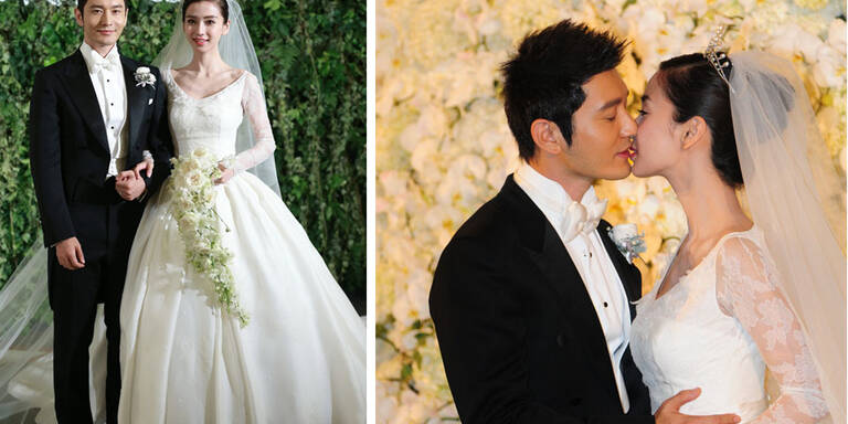 Die Hochzeit der chinesischen Kim Kardashian mit Schauspieler Huang Xiaoming kostete 31 Millionen Dollar! (28 Mio Euro!)