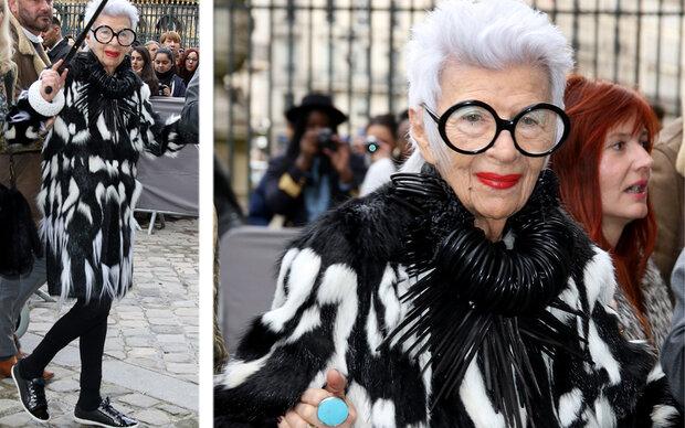 Iris Apfel ist der Star der Paris Fashion Week