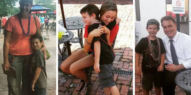 6-jähriger Weise sammelt Lächeln