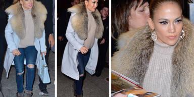 Jennifer Lopez - Kuschelig in New York unterwegs