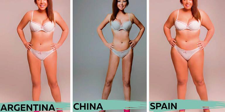 Photoshop-Künstler passten das Foto einer Frau an die Schönheitsideale des eigenen Landes an. Die Ergebnisse könnten nicht unterschiedlicher sein.