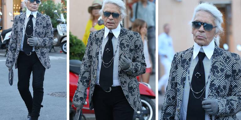 So stylisch macht Karl Lagerfeld Urlaub