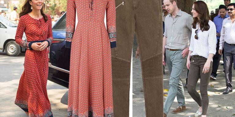 Herzogin Kate trägt Mode vom Diskonter!