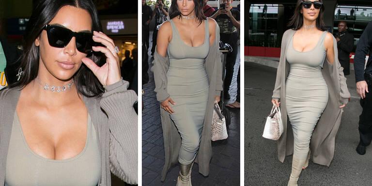 Kim Kardashian zeigt ihren Traumkörper