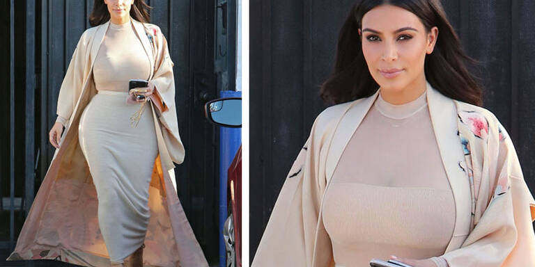 Kim Kardashians im Presswurst-Look