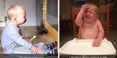 Absurde Gründe, warum Kinder weinen