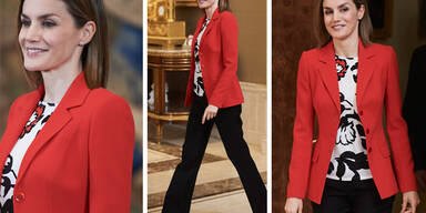 Die sonst so stilsichere Spanierin macht sich mit diesem Outfit älter, als sie eigentlich ist.