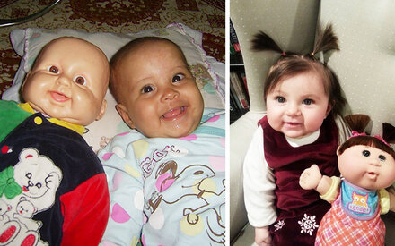 20 Kinder, die wie ihre Puppen aussehen