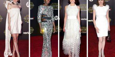 Stars auf der Star Wars Weltpremiere in Los Angeles