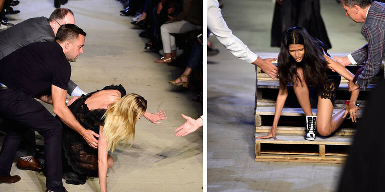 Bei Givenchy  flog sogar Candice Swanepoel hin!