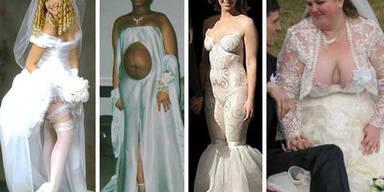 Die schrecklichsten Hochzeitskleider der Welt
