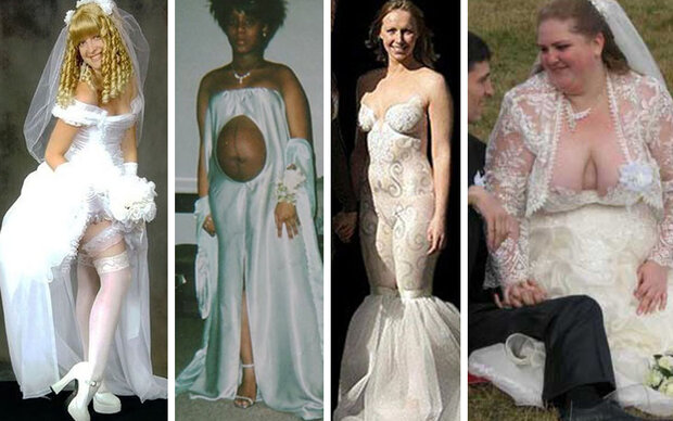 Die 20 schlimmsten Hochzeitskleider